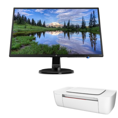 "[INN03344] Combo Monitor LED HP 24y 23.8"" + Impresora HP Deskjet Ink Advantage 1115 Color"