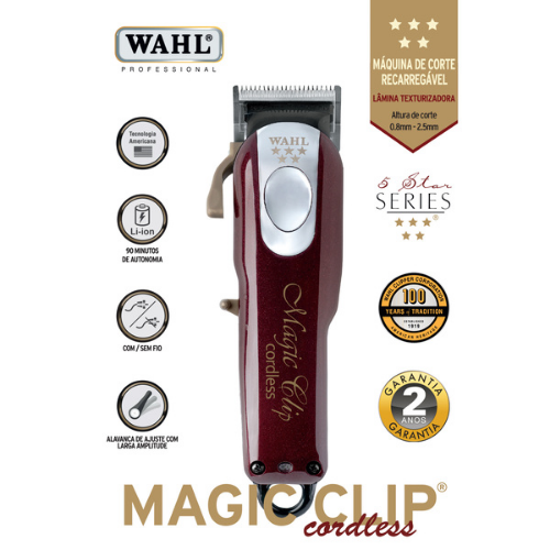 [INN04353] Cortadora de Cabello Wahl Profesional Inalámbrica Magic Clip 8148-308