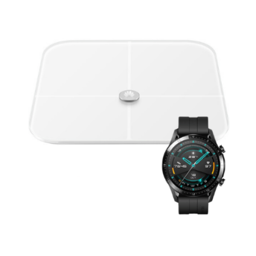 [INN0326] SmartWatch Huawei Watch GT 2 Negro Sport 46 mm + Báscula Inteligente Huawei