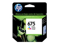 [INT4738] HP 675 - Color (cian, magenta, amarillo) - original