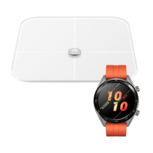 [INN066] SmartWatch Huawei Watch GT 2 Sport Naranja 46mm + Báscula Inteligente