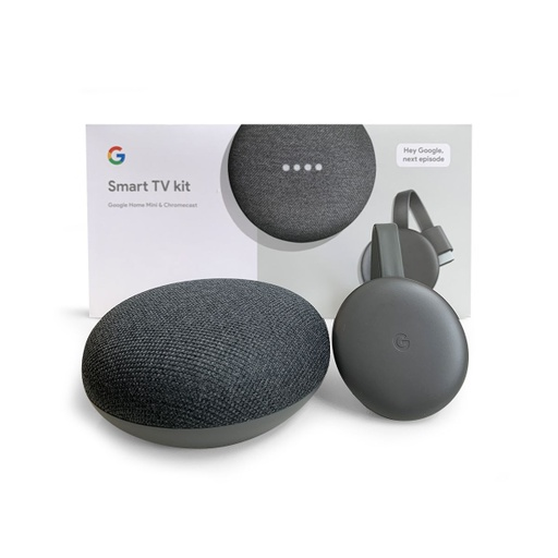 [INN01780] Smart TV Kit Parlante Google Home Mini + Dispositivo de Streaming Google Chromecast 3