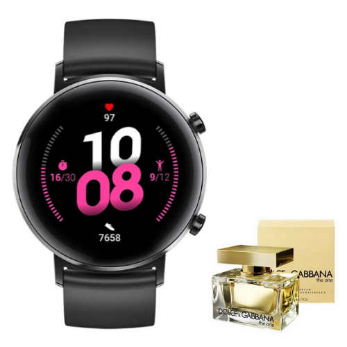 [INN01859] Combo SmartWatch Huawei Watch GT 2 Sport Negro 42mm + Perfume Dolce & Gabbana The One 75 ml Dama